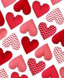 Modèle oblique fait de coeurs. Jour de valentines Image stock