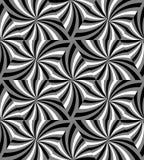 Modèle onduleux monochrome sans couture de triangles Fond abstrait géométrique Images stock