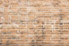 Modèle orange de fond de brique de mur de vintage vieux Image stock