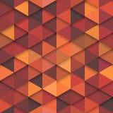 Modèle orange de mode de vecteur sans couture Photo libre de droits