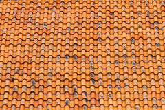 Modèle orange de toit Image libre de droits