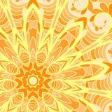 Modèle orange du soleil Photographie stock