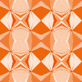 Modèle orange géométrique pixelated sans couture Photos stock