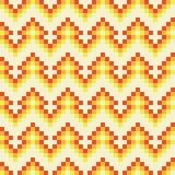 Modèle orange geomatric abstrait sans couture de pixel dans le vecteur illustration stock