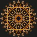 Modèle orange pour votre conception Photographie stock libre de droits