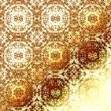 Modèle oriental d'or, éléments traditionnels folkloriques de vacances Photographie stock libre de droits