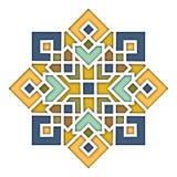 Modèle oriental d'arabesque, vignette dans le style islamique, verre coloré coloré oriental Illustration pour l'eid Mubarak illustration libre de droits