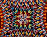 Modèle oriental de couleurs lumineuses sur une taie d'oreiller Photo stock