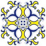 Modèle oriental de rosette Photographie stock libre de droits