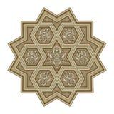 Modèle oriental de style de fleurs Illustration ornementale pour illustration libre de droits