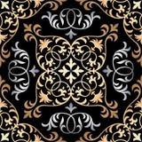 Modèle oriental fleuri sans couture de tuile de vecteur Image libre de droits