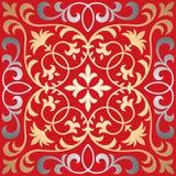 Modèle oriental fleuri sans couture de tuile de vecteur Photo stock