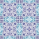 Modèle oriental fleuri sans couture de tuile de vecteur Photographie stock