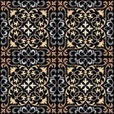 Modèle oriental fleuri sans couture de tuile de vecteur illustration stock