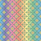 Mod?le oriental g?om?trique sans couture avec un effet olographe, sur un fond color? par gradient illustration de vecteur