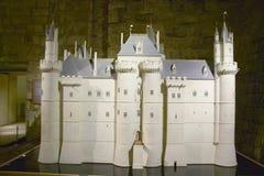 Modèle original du Louvre construisant, musée de Louvre, Paris, France Photo stock