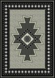 Modèle original pour le tapis oriental Images libres de droits