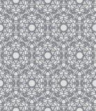 Modèle ornementé par laçage gris avec des motifs suédois Photographie stock libre de droits