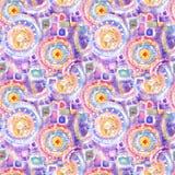 Modèle ornemental acrylique sans couture abstrait Texture sans couture dans le style d'impressionisme pour le Web, copie, envelop Photos stock
