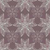Modèle ornemental de dentelle de fleur, Image libre de droits