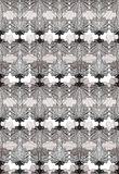 Modèle ornemental de vecteur de gamme de gris, fond sans couture décembre d'art Photos libres de droits
