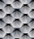 Modèle ornemental de vecteur monochrome, fond sans couture d'art Photographie stock libre de droits