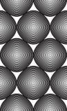 Modèle ornemental de vecteur noir et blanc, art sans couture Image libre de droits