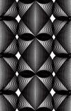 Modèle ornemental de vecteur noir et blanc, art sans couture Illustration Stock