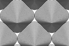 Modèle ornemental de vecteur noir et blanc, backgrou sans couture d'art Images stock
