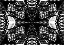 Modèle ornemental de vecteur noir et blanc, backgrou sans couture d'art Image libre de droits