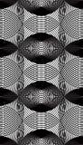 Modèle ornemental de vecteur noir et blanc, backgrou sans couture d'art Photos libres de droits