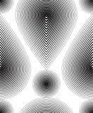 Modèle ornemental de vecteur noir et blanc, sans couture Images stock
