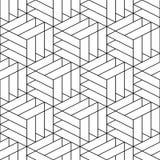 Modèle ornemental sans couture de vecteur - dessin géométrique Fond dernier cri abstrait Texture créative de grille illustration stock