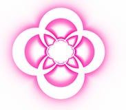 Modèle ornemental symétrique abstrait de croix rose Photos stock