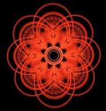 Modèle ornemental symétrique abstrait du rouge la croix huit-aiguë Photographie stock libre de droits