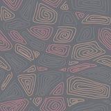 Modèle ornemental tiré par la main abstrait illustration de vecteur
