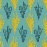 Modèle pâle avec l'herbe bleue et olive abstraite illustration de vecteur
