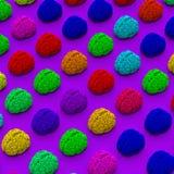 Modèle pixelated coloré de cerveaux Photos libres de droits