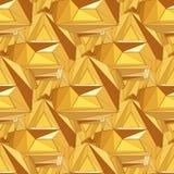 Modèle polygonal sans couture d'or Images libres de droits
