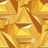 Modèle polygonal sans couture d'or Image stock