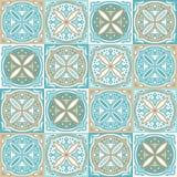 Modèle portugais de carreau de céramique d'azulejo illustration de vecteur