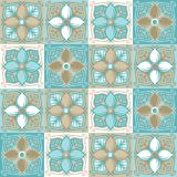 Modèle portugais de carreau de céramique d'azulejo illustration libre de droits