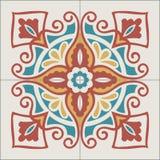 Modèle portugais de tuiles Fond de vintage - en céramique victorien illustration de vecteur