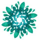 Modèle pour aquarelle - fleur abstraite Photos libres de droits