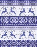Modèle pour des chandails de knit Photo stock