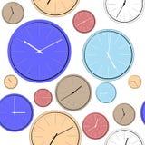 Modèle pour envelopper l'horloge Photos stock