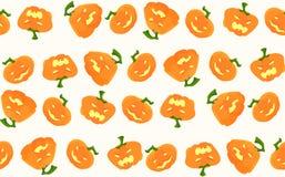 Modèle pour Halloween avec des potirons et différentes émotions sur eux Image stock