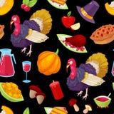 Modèle pour le jour de thanksgiving Photographie stock libre de droits