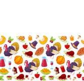 Modèle pour le jour de thanksgiving Image stock