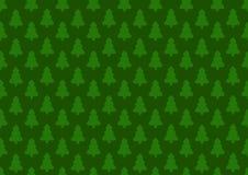 Modèle pour le papier d'emballage Arbre de Noël sur un fond vert illustration libre de droits